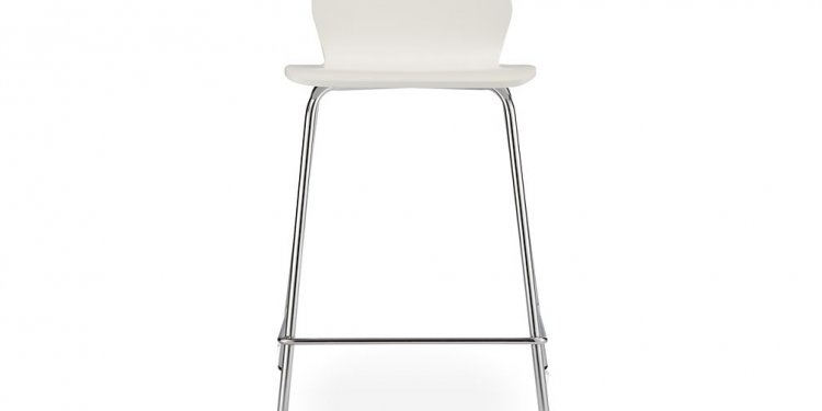 Felix white bar stool