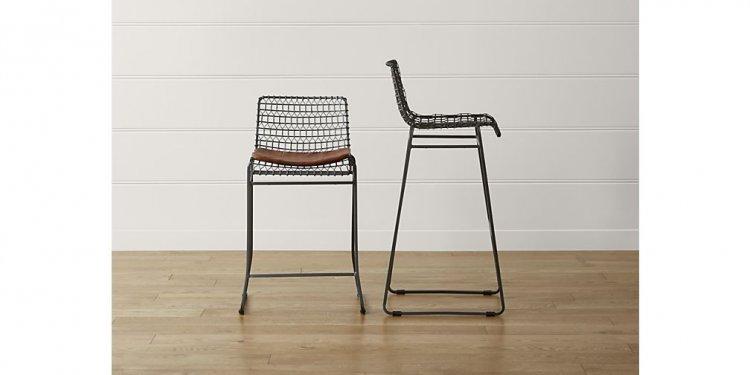 Tig metal bar stool crate and